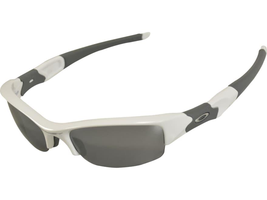 Oakley Flak Jacket Sunglasses Polished White Frame/Black Iridum Lens