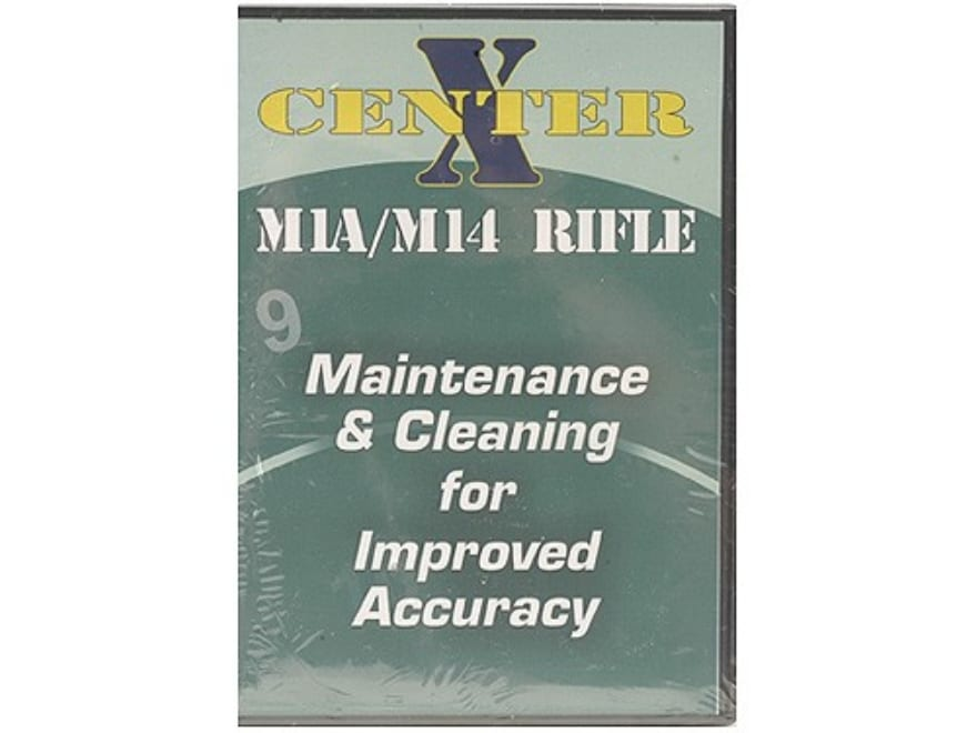 """Gun Video """"Center X: M1A/M14 Rifle Maintenance and Cleaning for Improved Accuracy"""" DVD"""