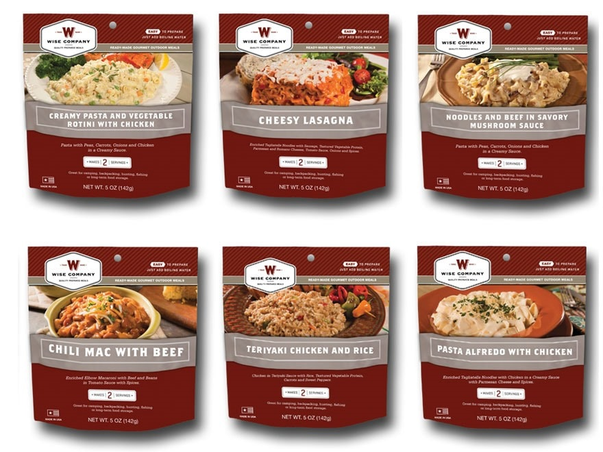 Dried Foods For Emergency Preparedness: Wise Food 72-Hour Emergency Entree Kit Freeze Dried Food