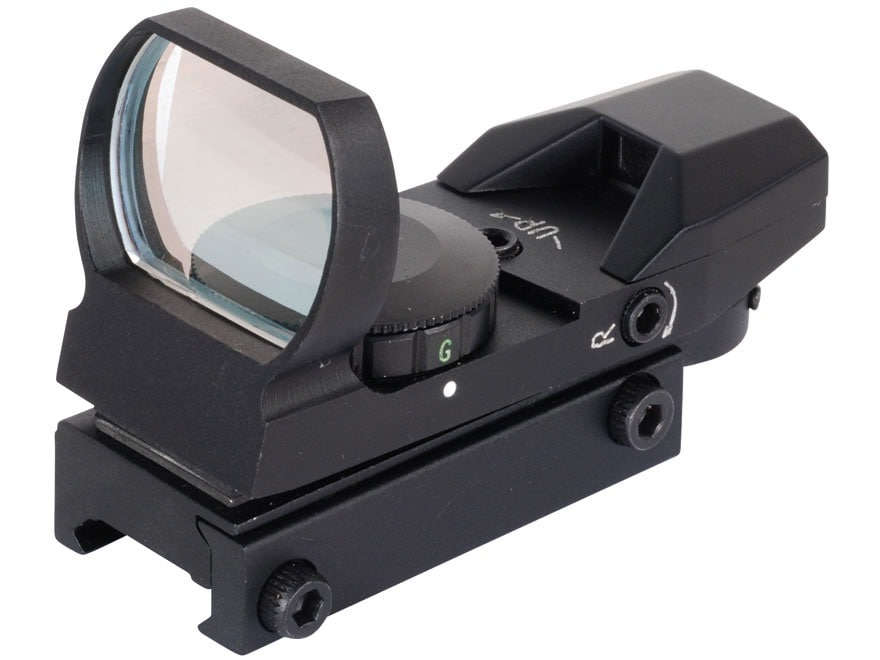 NcStar Tactical Red Dot Sight Red and Green 4-Pattern Reticle (Dot, Bullseye, Cross, an...