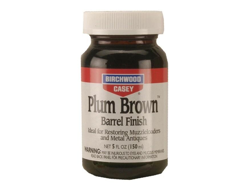 Birchwood Casey Plum Brown Barrel Finish 5 oz Liquid