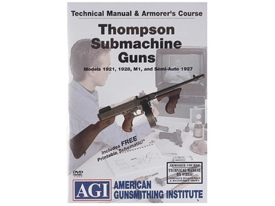 """American Gunsmithing Institute (AGI) Technical Manual & Armorer's Course Video """"Thompso..."""