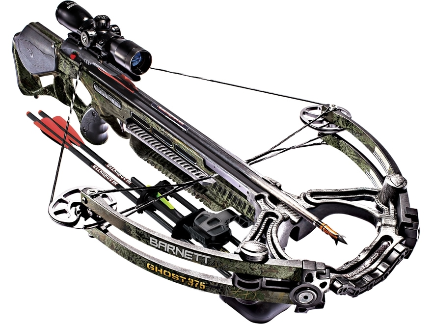 Barnett Ghost 375 Crossbow Package with 4x32 Illuminated Scope Realtree Max-1 Camo
