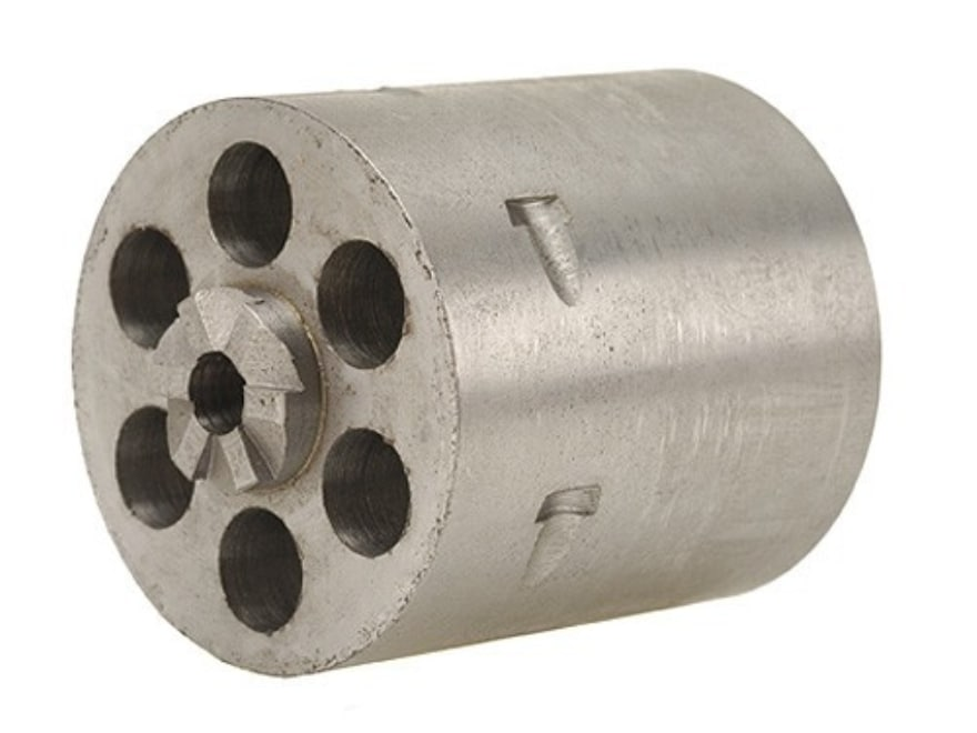 """Story Replacement Cylinder Blank .375"""" Chamber Ruger Blackhawk Steel in the White"""