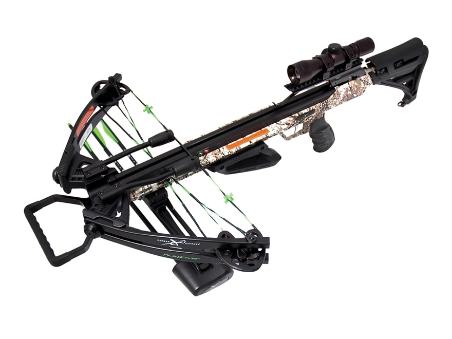Carbon Express Piledriver 390 Crossbow Package with 4x32 Scope Badlands Approach Camo