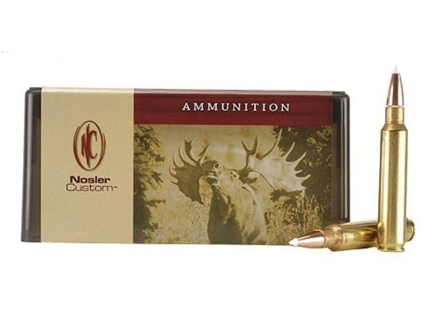 Nosler Custom Ammunition 338 Remington Ultra Magnum 200 Grain AccuBond Spitzer Box of 20