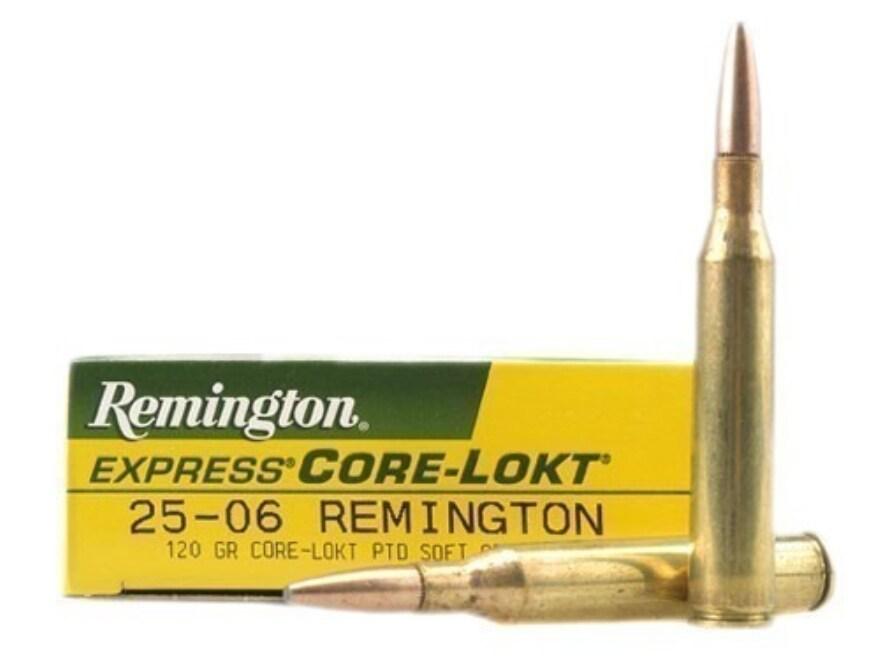Remington Express Ammunition 25-06 Remington 120 Grain Core-Lokt Pointed Soft Point Box...