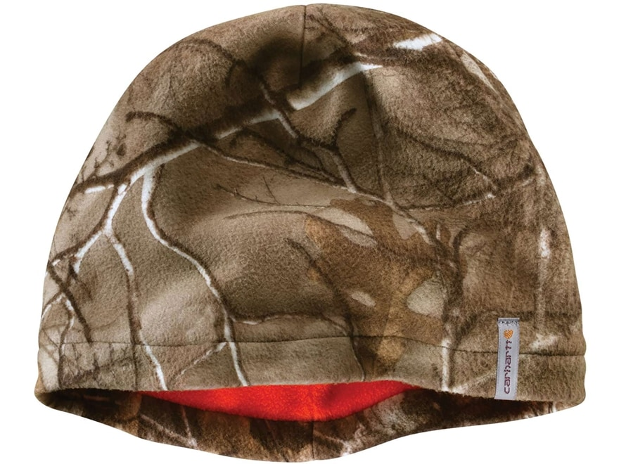 Carhartt Men's Force Swifton Reversible Beanie Polyester Realtree Xtra Camo/Blaze Orange