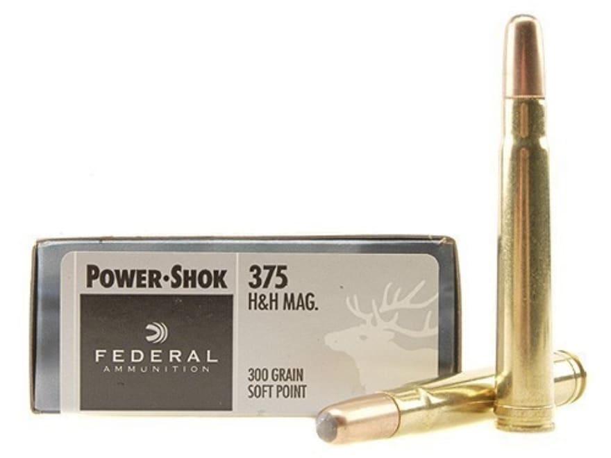 Federal Power-Shok Ammunition 375 H&H Magnum 300 Grain Soft Point Box of 20