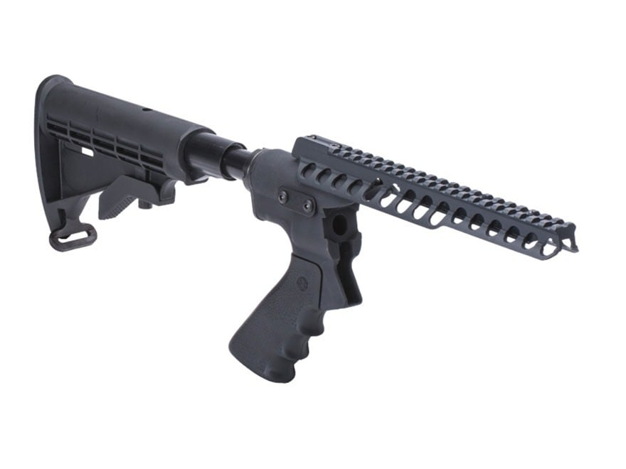 """Mesa Tactical High Tube Telescoping Hydraulic Recoil Stock Kit with 9"""" Adapter Mount Pi..."""