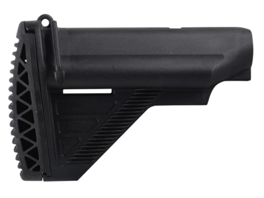 HK E1 Stock Mil-Spec Diameter Collapsible AR-15, MR556 Carbine Synthetic Black
