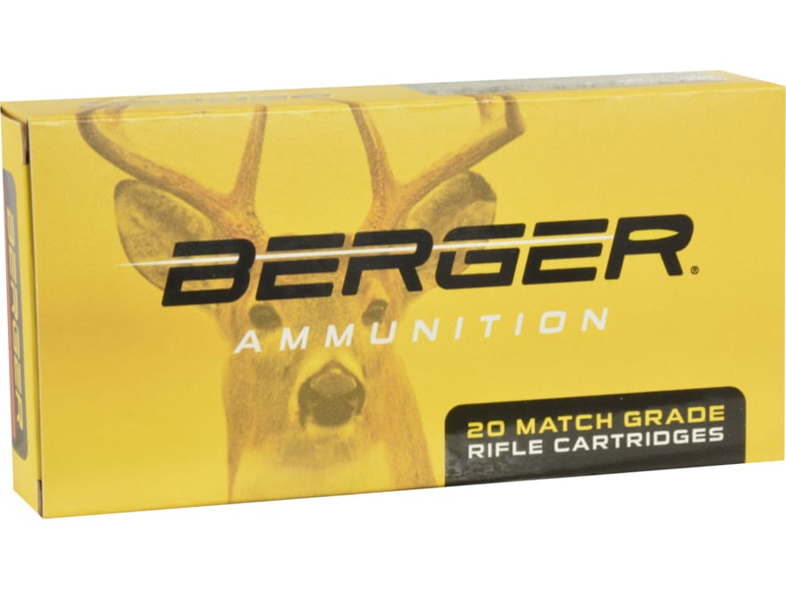 Berger Match Grade Ammunition 6.5 Creedmoor 140 Grain Lapua Naturalis Box of 20