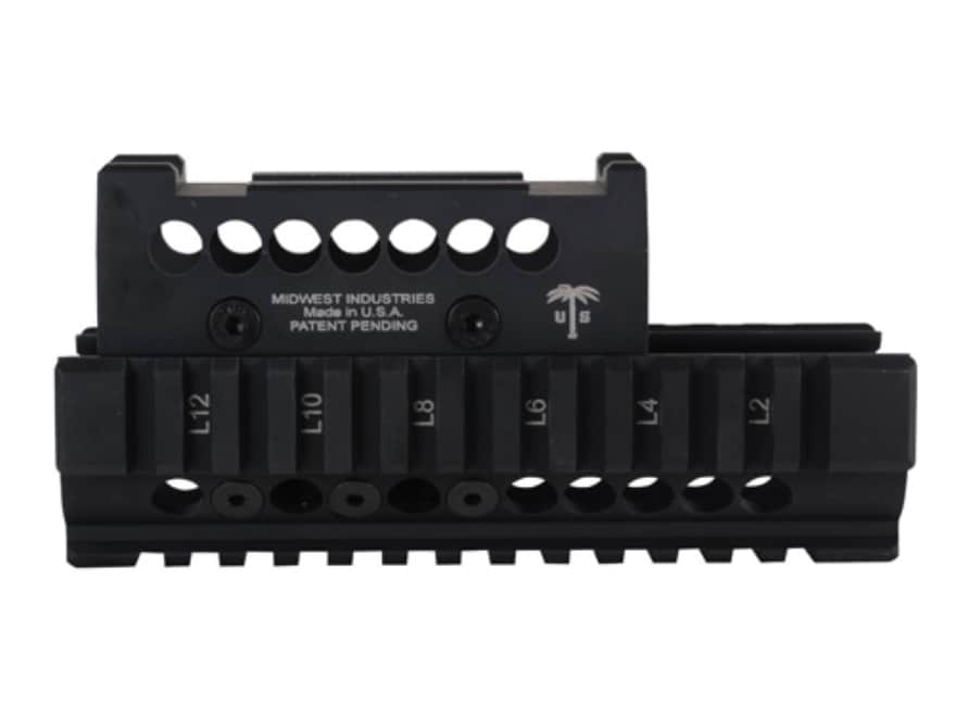 Midwest Industries US Palm 2-Piece Quad Rail Handguard AK-47, AK-74 with Aimpoint Micro...