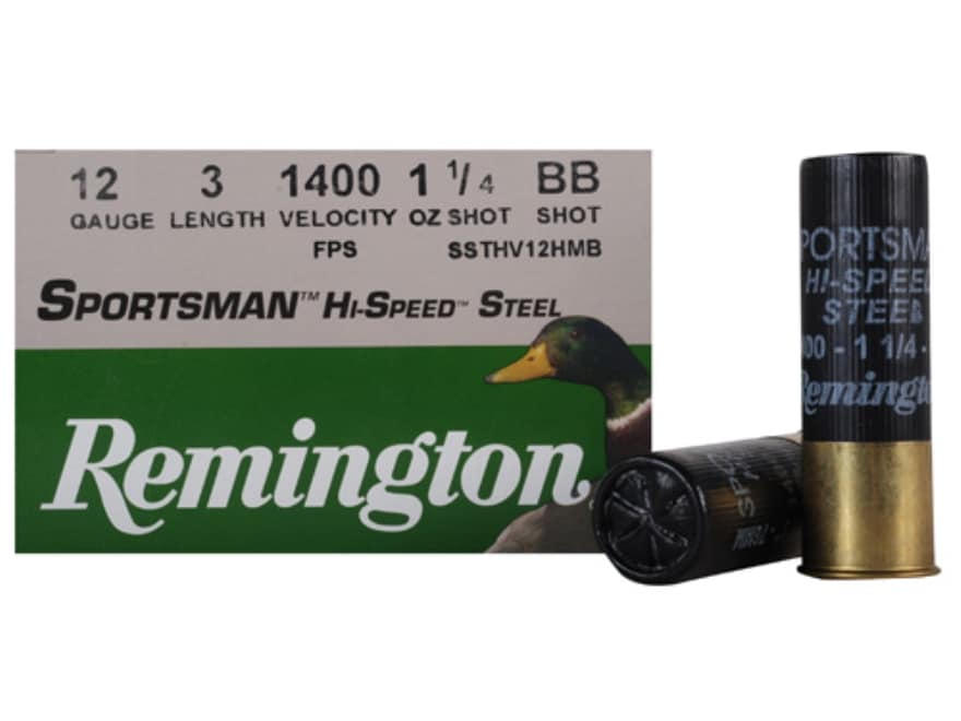"Remington Sportsman Hi-Speed Ammunition 12 Gauge 3"" 1-1/4 oz BB Non-Toxic Steel Shot"