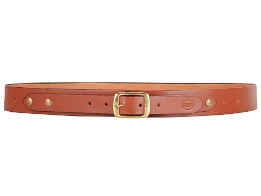 "Hunter 3458-3 Adjustable Holster Belt 1-1/2"" Brass Buckle Leather Tan 34"" to 56"""