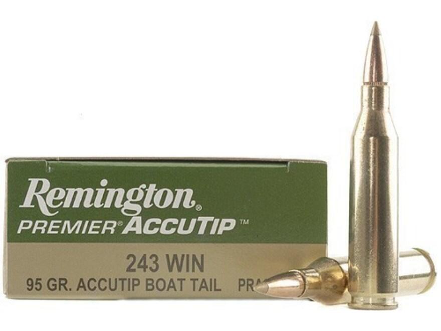 Remington Premier Ammunition 243 Winchester 95 Grain AccuTip Boat Tail Box of 20