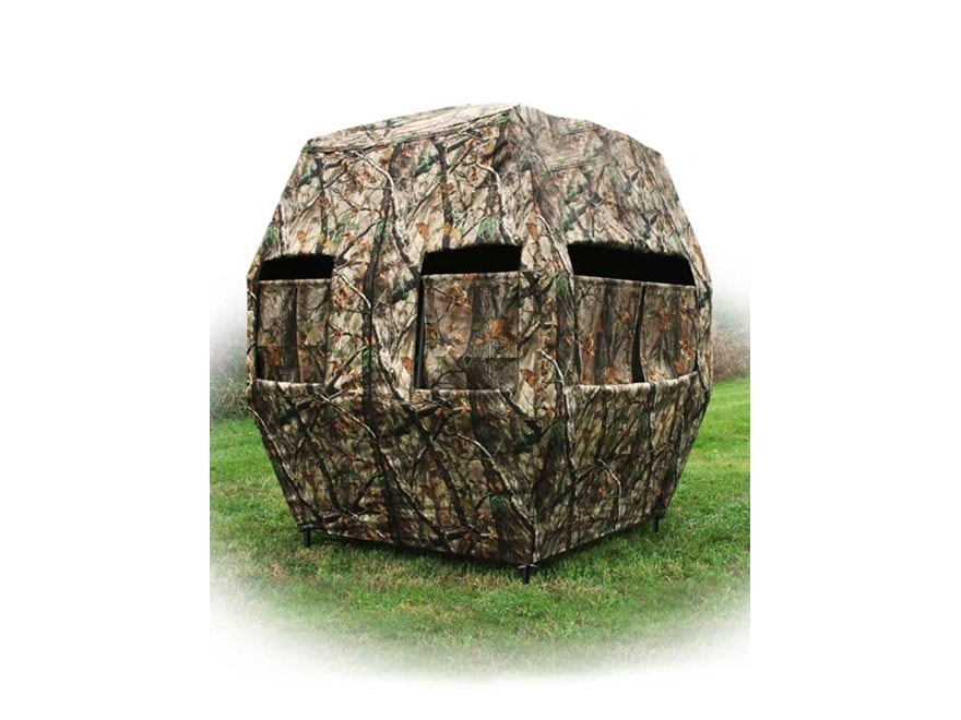 X-Stand The Kingpin Ground Blind Steel DZX Camo