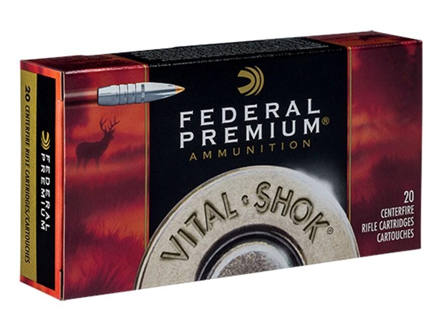 Federal Premium Vital-Shok Ammunition 338 Remington Ultra Magnum 210 Grain Nosler Parti...
