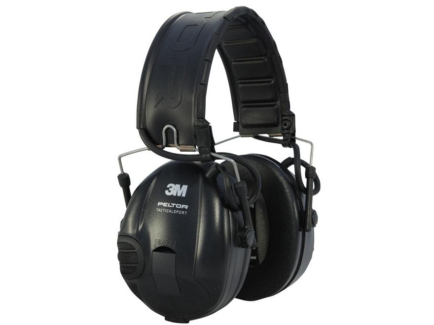 Peltor TacSport Electronic Earmuffs (NRR 20dB) Black