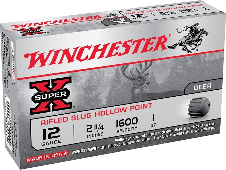 "Winchester Super-X Ammunition 12 Gauge 2-3/4"" 1 oz Rifled Slug"