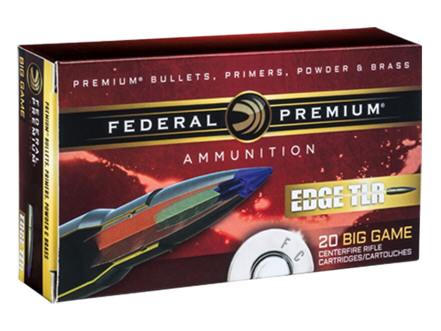 Federal Premium Edge TLR Ammunition 7mm Remington Magnum 155 Grain Polymer Tipped Bonde...