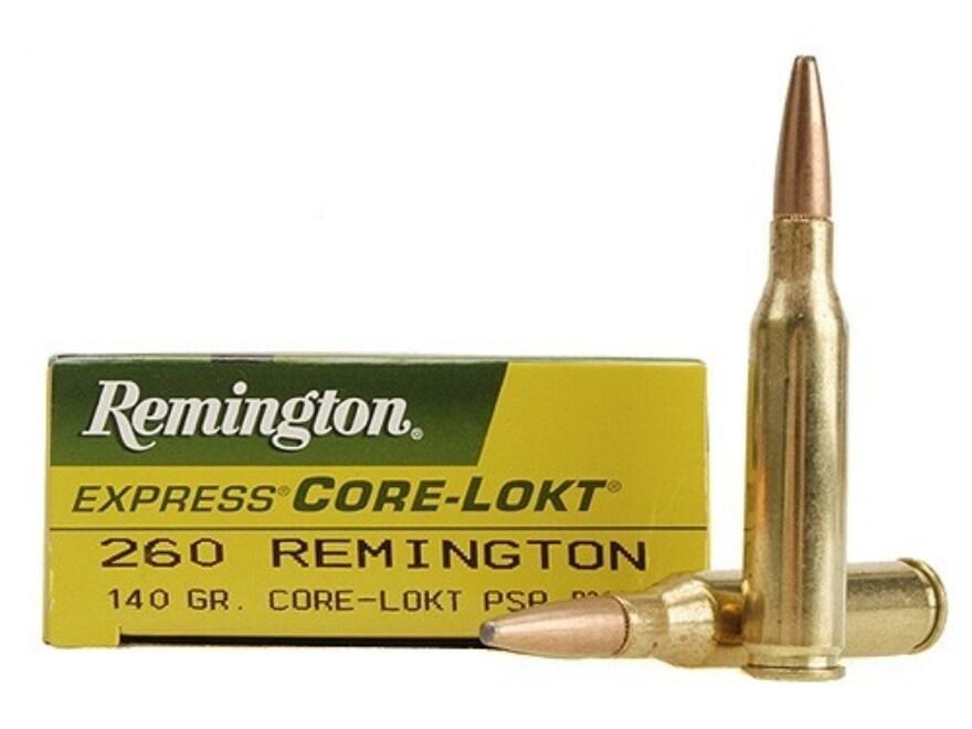 Remington Express Ammunition 260 Remington 140 Grain Core-Lokt Pointed Soft Point Box o...