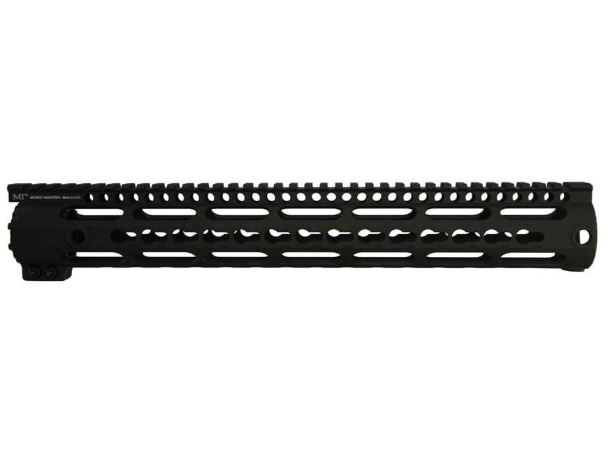 Midwest Industries K-Series Free Float KeyMod Handguard High Profile LR-308 Aluminum Black