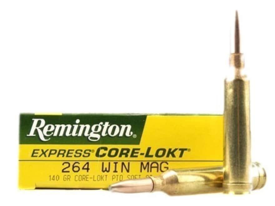 Remington Express Ammunition 264 Winchester Magnum 140 Grain Pointed Soft Point Core-Lo...