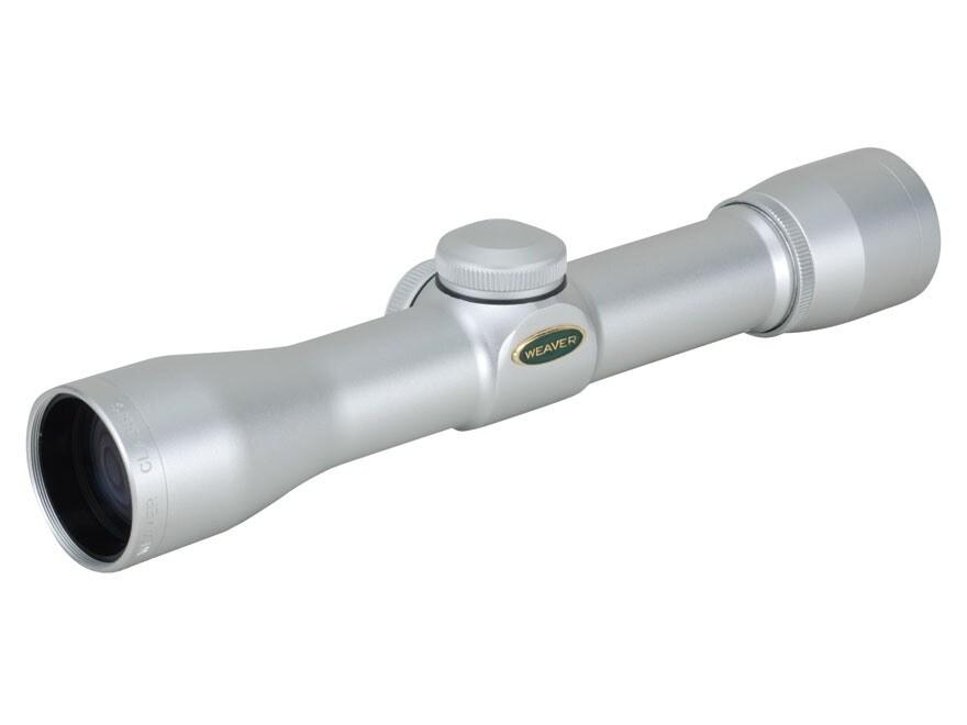 Weaver Classic Pistol Scope 2x 28mm Dual-X Reticle Silver
