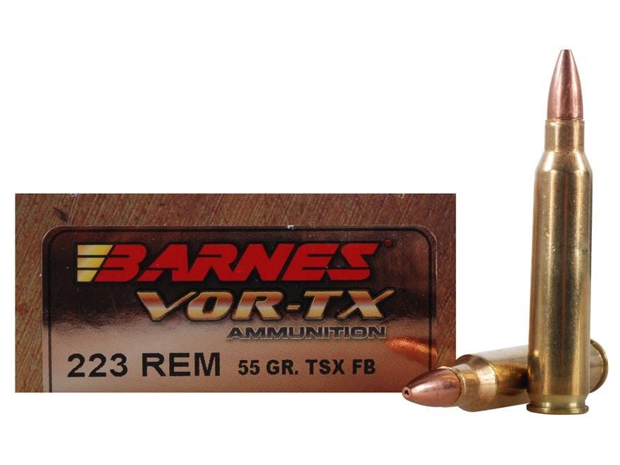 Barnes VOR-TX Ammunition 223 Remington 55 Grain TSX Hollow Point Lead-Free Box of 20