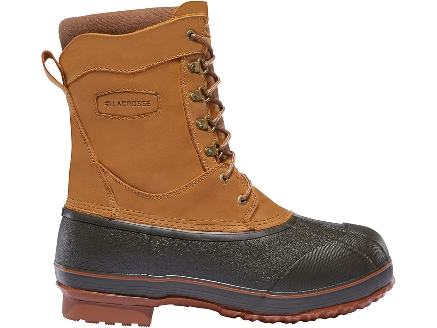 """LaCrosse Ice King 10"""" Waterproof 400 Gram Insulated Hunting Boots Leather/Rubber Brown ..."""