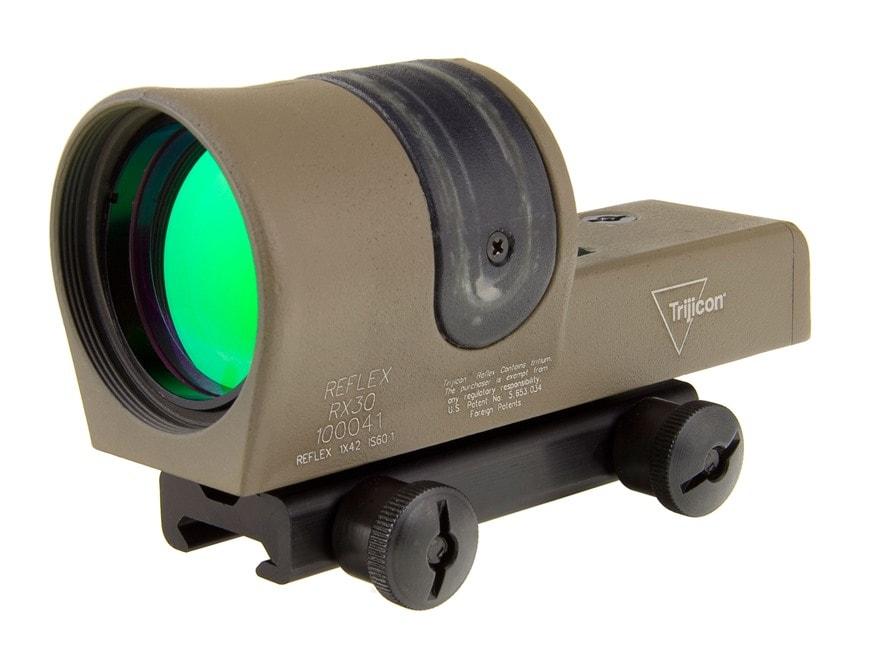 Trijicon RX30-C Reflex Sight 1x 42mm 6.5 MOA Dual-Illuminated Amber Dot with TA51 Mount...