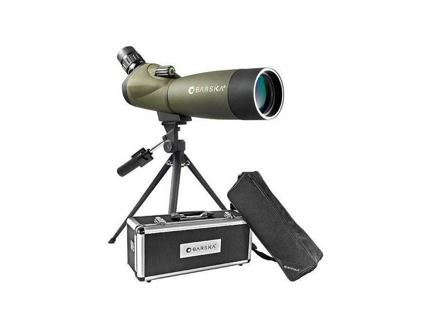 Barska Blackhawk Spotting Scope 20-60x 60mm with Tripod and Hard Case Rubber Armored Green