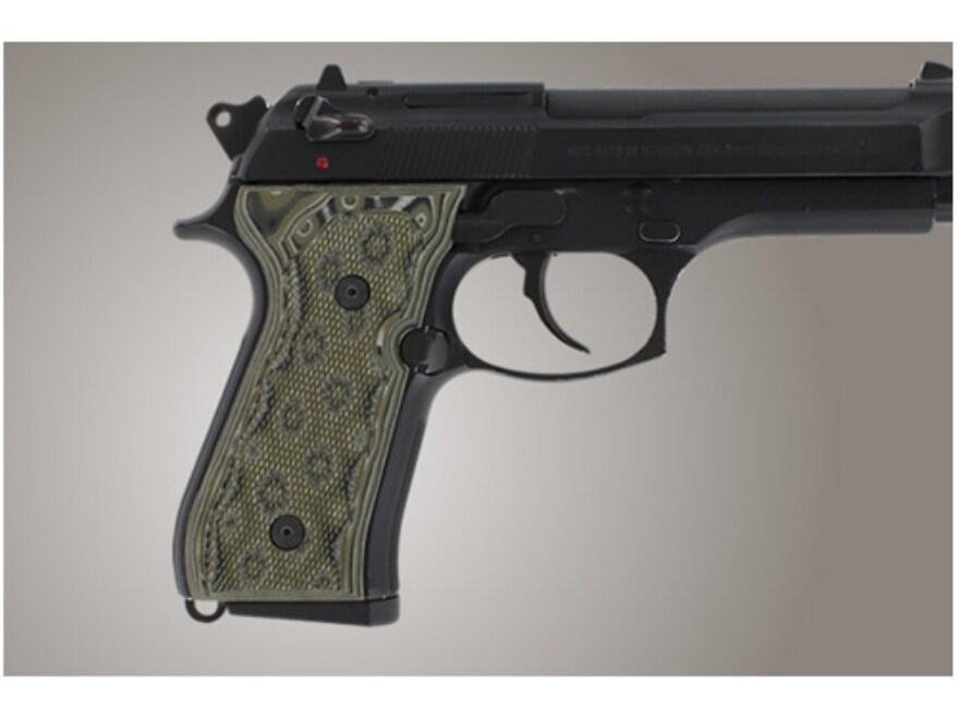 Hogue Extreme Series Grip Beretta 92F, 92FS, 92SB, 96, M9 Checkered G-10