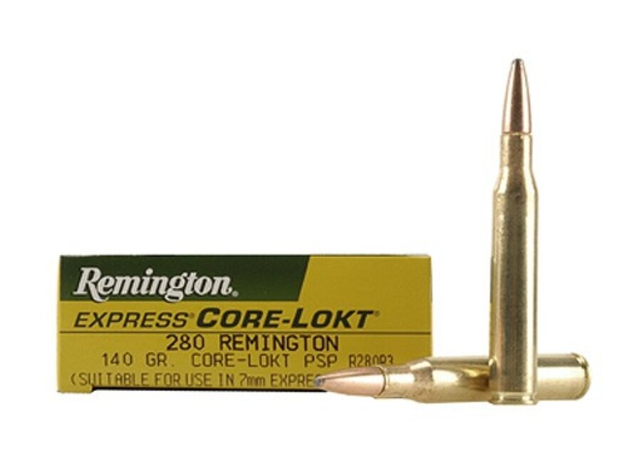 Remington Express Ammunition 280 Remington 140 Grain Core-Lokt Pointed Soft Point Box o...