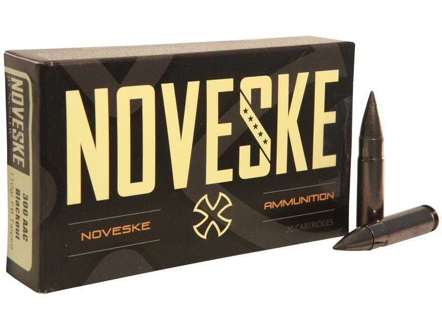 Noveske Ammunition 300 AAC Blackout 110 Grain Nosler Varmageddon Tipped Flat Base Box o...