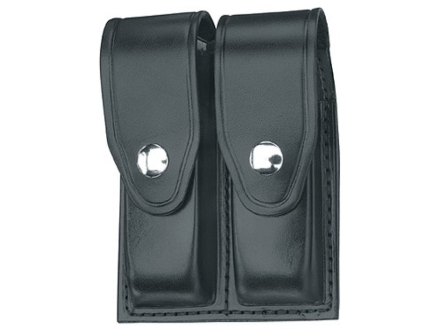 Glock Magazine Holder Gould Goodrich B41 Double Mag Pouch Leather Black 9