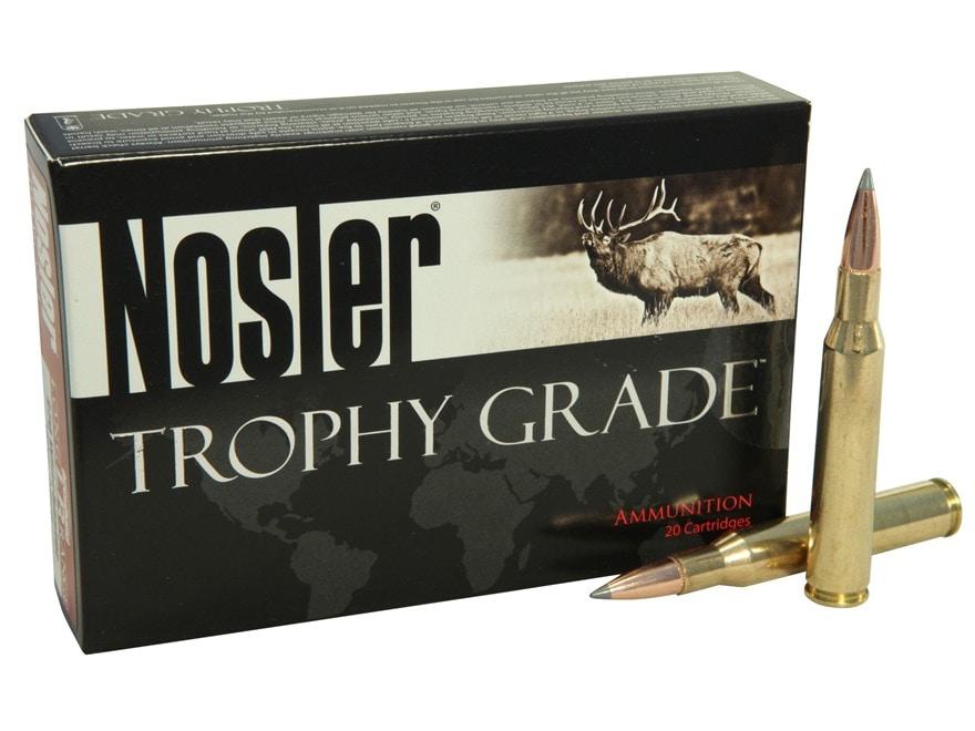 Nosler Trophy Grade Ammunition 270 Winchester 150 Grain AccuBond Long Range Box of 20