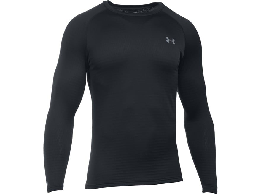 Under Armour Men's UA Base 2.0 Crew Base Layer Shirt Long Sleeve Polyester Black