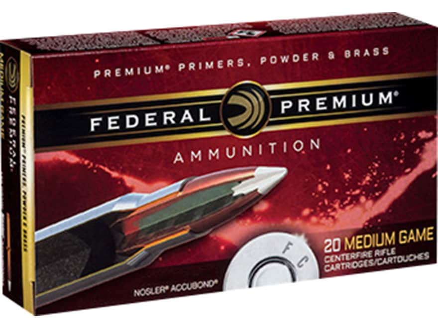 Federal Premium Vital-Shok Ammunition 243 Winchester 90 Grain Nosler Accubond Box of 20