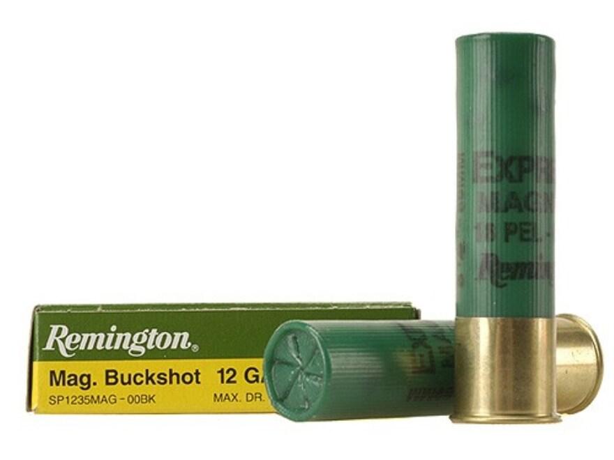 "Remington Express Ammunition 12 Gauge 3-1/2"" 00 Buckshot 18 Pellets Box of 5"