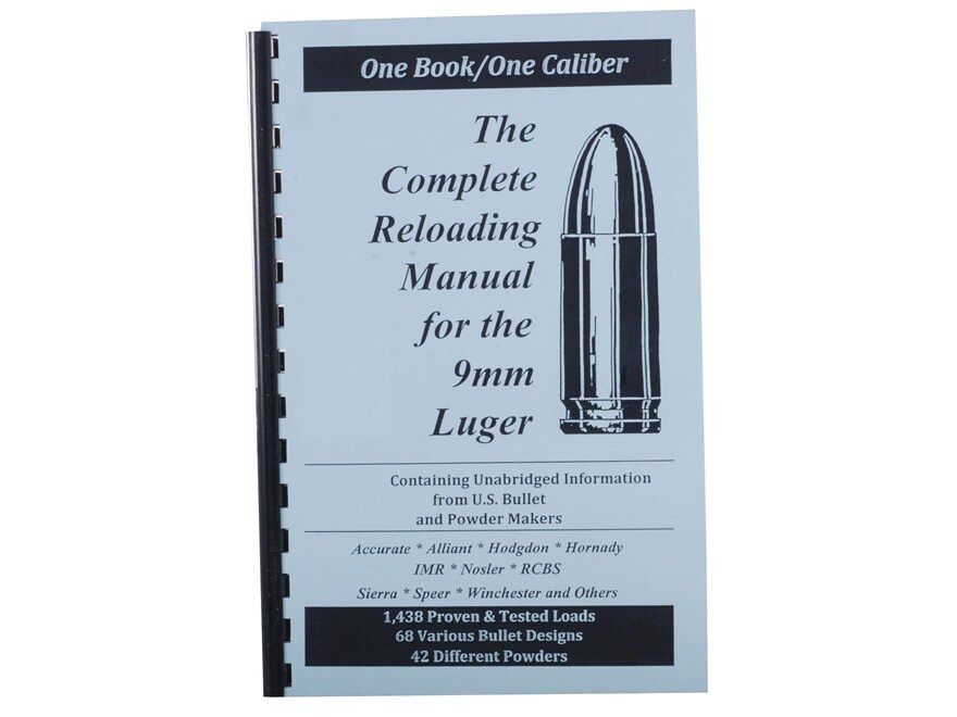 "Loadbooks USA ""9mm Luger"" Reloading Manual"