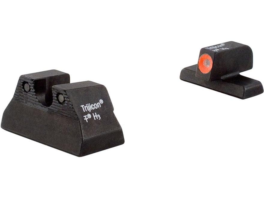 Trijicon HD Night Sight Set HK USP Compact Steel Matte 3-Dot Tritium Green with Front D...