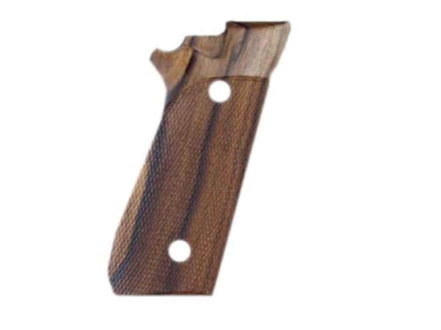 Hogue Fancy Hardwood Grips PT99 with Frame Mounted Safety Checkered Pau Ferro