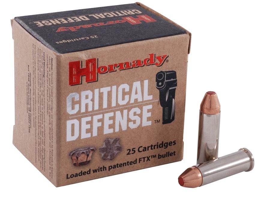 Hornady Critical Defense Ammunition 38 Special 110 Grain Flex Tip eXpanding Box of 25