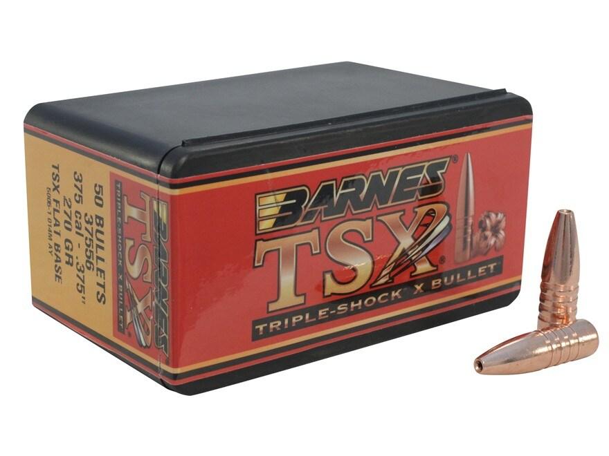 Barnes Triple-Shock X (TSX) Bullets 375 Caliber (375 Diameter) 270 Grain Hollow Point F...