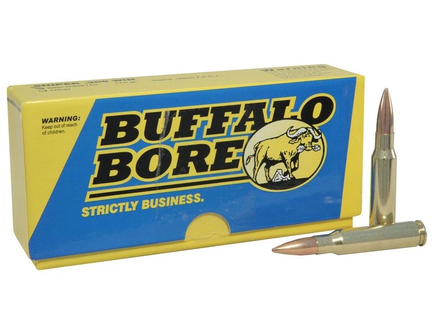 Buffalo Bore Sniper Ammunition 308 Winchester 175 Grain Hollow Point Boat Tail Box of 20