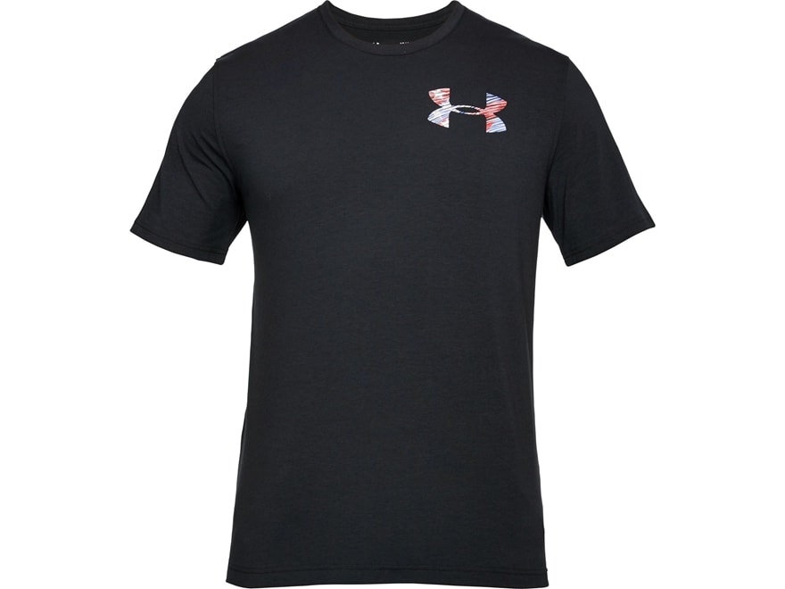 Under Armour Men's UA Whitetail Flag Skull T-Shirt Short Sleeve Charged Cotton