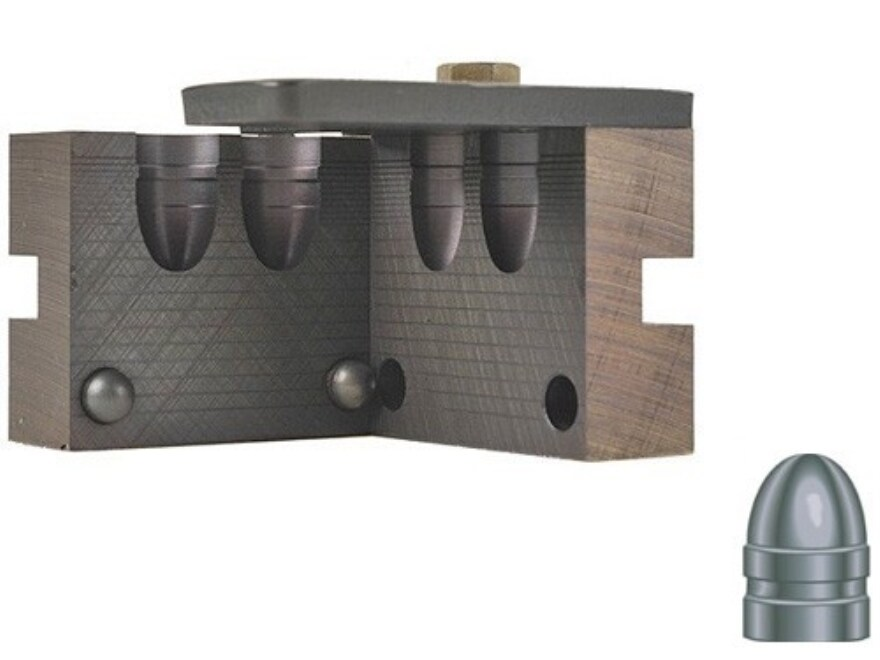 RCBS 2-Cavity Bullet Mold 45-230-RN 45 Caliber (452 Diameter) 230 Grain Round Nose