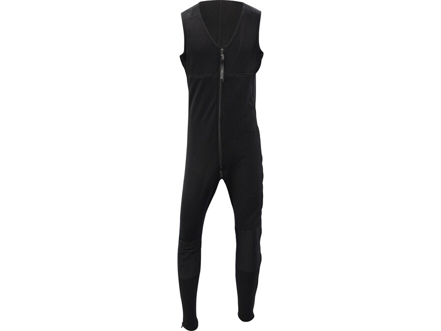 Military Surplus PowerStretch Mid-Weight One-Piece Sleeveless Union Suit Black